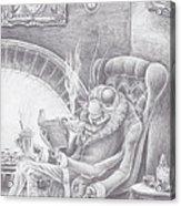 Fireside Companion Acrylic Print by Canis Canon