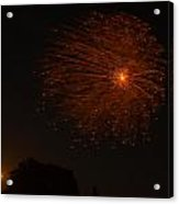 Fireworks And Wildfire Moon Acrylic Print