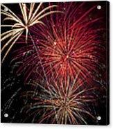 Fireworks Acrylic Print by Garry Gay