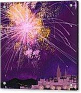 Fireworks In Malta Acrylic Print