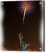 Fireworks In Oil Acrylic Print