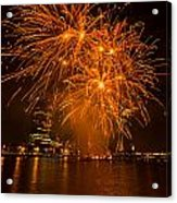 Fireworks London Acrylic Print