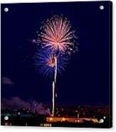 Fireworks Acrylic Print by Elijah Weber