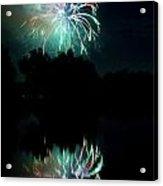Fireworks On Golden Ponds. Acrylic Print by James BO  Insogna