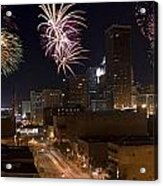 Fireworks Over The City Acrylic Print