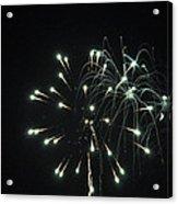 Fireworks With Moon II Fm2p Acrylic Print