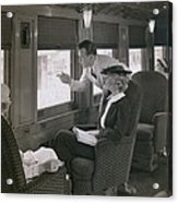 First Class Passengers In An Acrylic Print