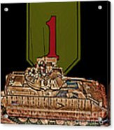 First Infantry Division Bradley Fighting Vehicle Acrylic Print