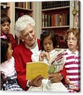 First Lady Barbara Bush Reads Acrylic Print