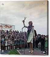 First Lady Campaigning In Hawaii. A Acrylic Print by Everett