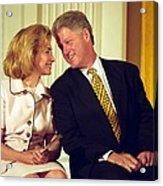 First Lady Hillary Clinton Acrylic Print by Everett
