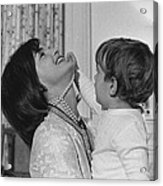 First Lady Jacqueline Kennedy Laughs Acrylic Print by Everett