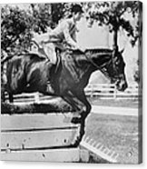 First Lady Jacqueline Kennedy, Riding Acrylic Print