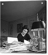 First Lady, Lady Bird Johnson, Working Acrylic Print by Everett
