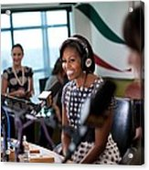 First Lady Michelle Obama Does An Acrylic Print by Everett