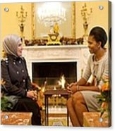 First Lady Michelle Obama Meets Acrylic Print