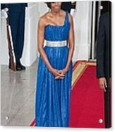 First Lady Michelle Obama Wearing Acrylic Print