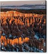 First Light At Bryce Canyon Acrylic Print
