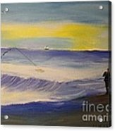 First Light First Wave First Fish Acrylic Print