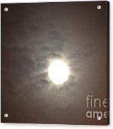 First Moon August 1 2012 Acrylic Print