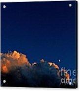 First Quarter-waxing Crescent Moon Acrylic Print