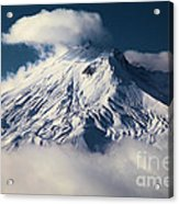 First Snow At Mt St Helens Acrylic Print