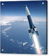 First V-2 Rocket Launch, Artwork Acrylic Print