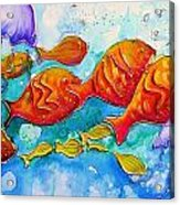 Fish Abstract Painting Acrylic Print