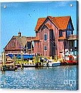 Fish House On The Island Acrylic Print