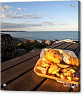 Fish 'n' Chips By The Beach Acrylic Print by Rob Hawkins
