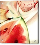 Fish Out Of Watermelon Acrylic Print