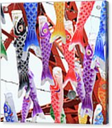 Fish Style Paper Lanterns Acrylic Print