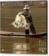 Fisherman Mekong 3 Acrylic Print