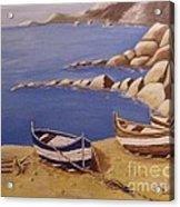 Fisherman's Boats Acrylic Print by Debra Piro