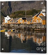 Fishermen's Village Sakrisoy  Acrylic Print