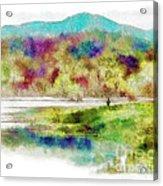 Fishing - Watson Lake Acrylic Print