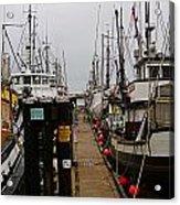 Fishing Boat Walkway Acrylic Print