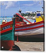 Fishing Boats At Arniston Acrylic Print