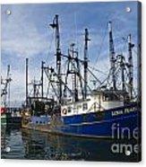 Fishing Boats At Dock Acrylic Print
