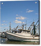 Fishing Boats At The Gulf Of Mexico Acrylic Print