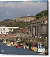 Fishing Boats Hayle Harbour Acrylic Print