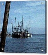 Fishing Boats In Harbor Acrylic Print