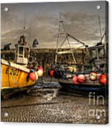 Fishing Boats On The Cobb Acrylic Print