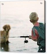 Fishing Boy Acrylic Print
