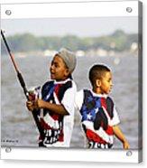 Fishing Brothers Acrylic Print