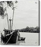 Fishing Bumboat Acrylic Print