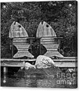 Fishing Chairs Acrylic Print