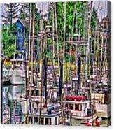 Fishing Docks Hdr Acrylic Print