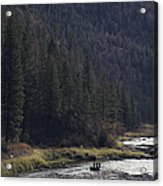 Fishing For Steelhead On The Salmon Acrylic Print