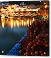 Fishing Harbour At Dusk Acrylic Print